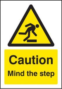 Caution mind the step - A5 rp
