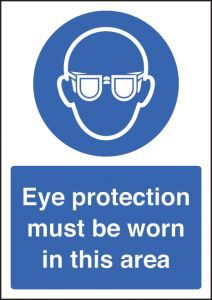 Eye Protection Must Be Worn - A4 Rigid Plastic Sign