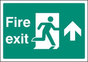 Fire exit up - A4 sav