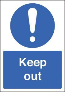 Keep Out - A4 Self-Adhesive Vinyl Sign