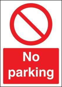 No parking - A4 rp