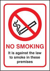 No smoking - A5 sav