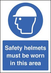 Safety helmet must be worn - A4 sav