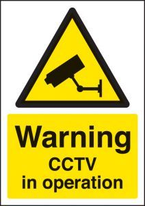 Warning CCTV in operation - A4 rp