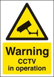 Warning CCTV in operation - A4 sav