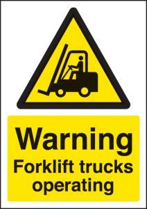 Warning forklift trucks operating - A4 rp