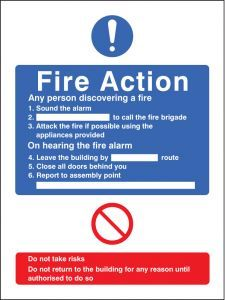 General fire action adapt-a-sign 215x310mm