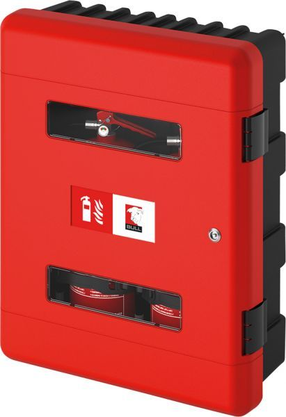 Dual Fire Extinguisher Cabinet, Red (Lockable)