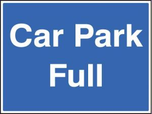 Car park full c/w frame 600x450mm