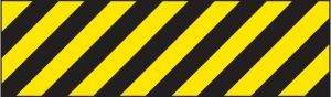 Hazard marker 600x150mm reflective aluminium left hand