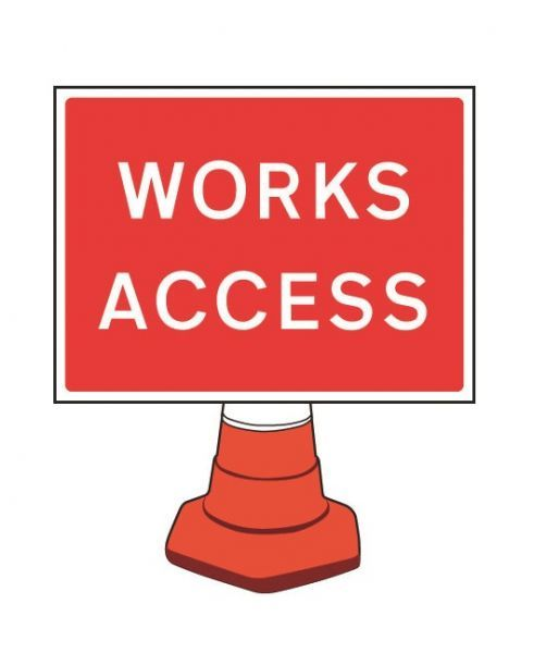 Works Access Cone Sign