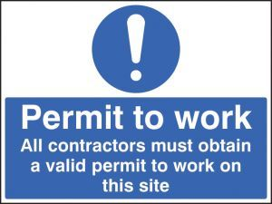 Permit to work all contractors must obtain a permit