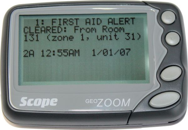 GEO Zoom Text Pager With Holster