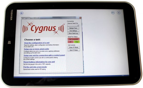 10 Inch Tablet with Cygnus Software