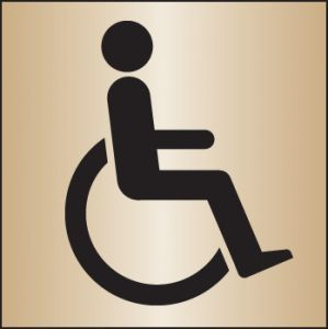 Disabled WC 140x140mm brass
