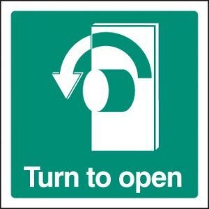 Turn to open - left