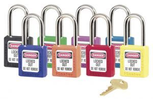 Safety Lockout Padlock, Keyed Different, Green