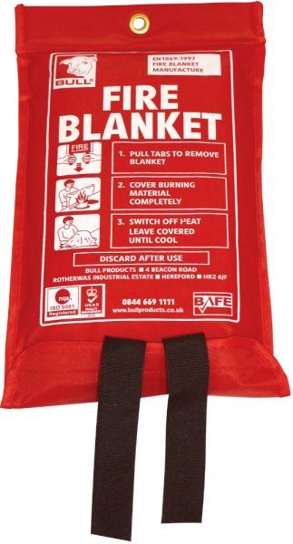 1m x 1m Fire Blanket Nylon Pack | Fire Safety Equipment