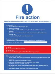Fire action - multiple occupation