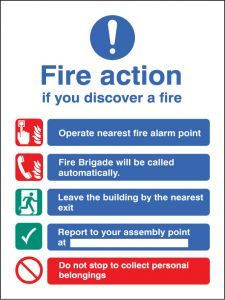 Fire action auto dial without lift
