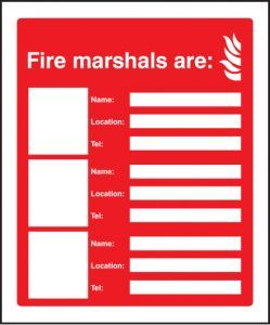 Fire marshals are (3 names, locations and numbers)