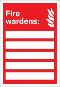 Fire wardens (space for 5 people)