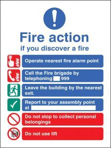 New EEC fire action (manual call 999)