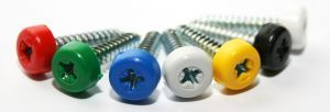 Poly top screws yellow (pack 12)