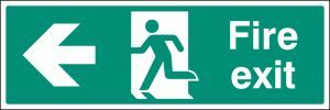 Fire exit left floor graphic 600X200mm
