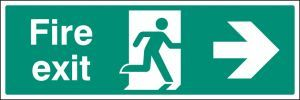Fire exit right floor graphic 600x200mm
