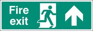 Fire exit up floor graphic 600x200mm