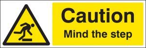 Mind the step floor graphic 300x100mm