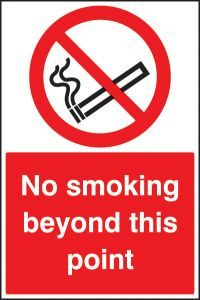 No smoking beyond this point floor graphic 400x600mm