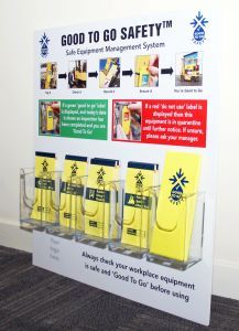 Good to Go Safety Information Station with 5 dispensers (10mm foamex, 700x750mm)