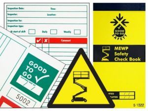 Good to go safety MEWP check book