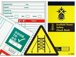 Good to go safety scaffold tower check book