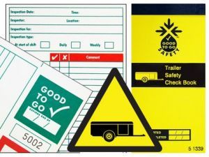 Good to go trailer safety check book