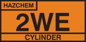 2WE cylinder storage placard sav