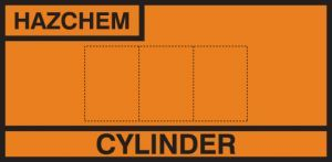 Design own cylinder storage placard alu