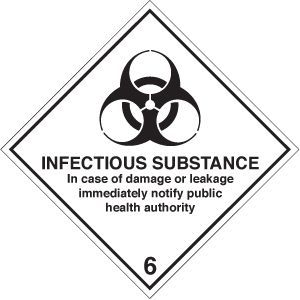 Infectious substance diamond