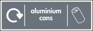 WRAP Recycling Sign - Aluminium cans