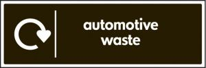 WRAP Recycling Sign - Automotive waste