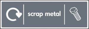 WRAP Recycling Sign - Scrap metal
