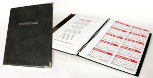 Visitors Book Kit - Book,300 inserts,10 wallets