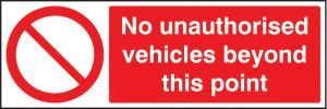 No unauthorised vehicles beyond this point