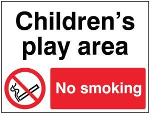 Childrens play area No smoking