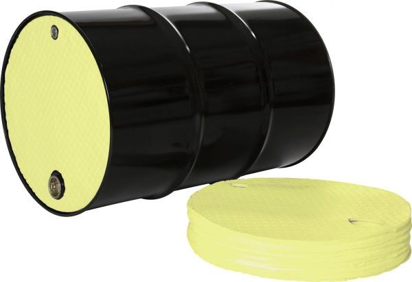 Yellow Chemical Drum Top Cover dia. 56cm