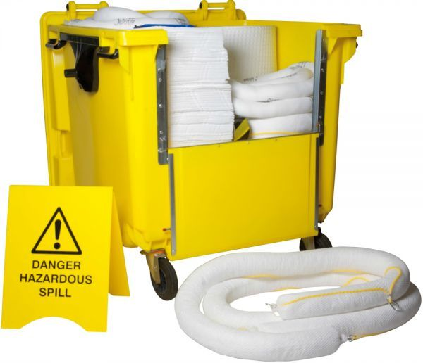 500 Litre Oil Spill Kit Wheelie Bin