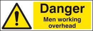 Danger men working overhead
