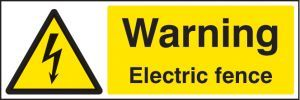 Warning electric fence